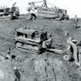 Dam Construction, Cleburne State Park, 1936-1940