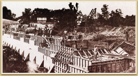 Dam Construction, Fort Parker State Park, c. 1937-1938