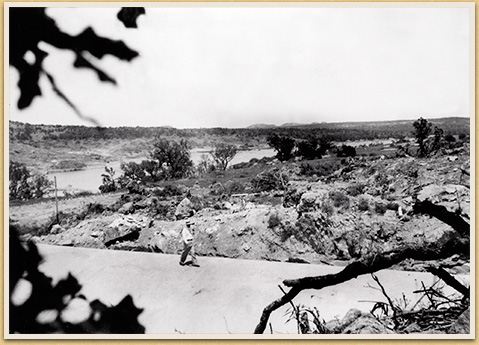 Early CCC Road, Inks Lake State Park, c. 1936